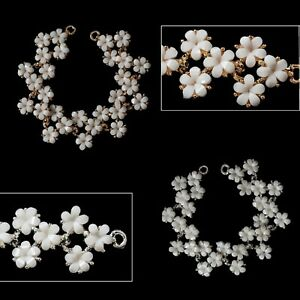 Sew-on-Applique-White-Flower-Stone-Gold-Silver-Motif-Patch-Embellishment-6cmx2cm
