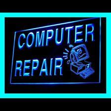 130007 Computer Service Upgrades Repair Internet Display LED Light Sign