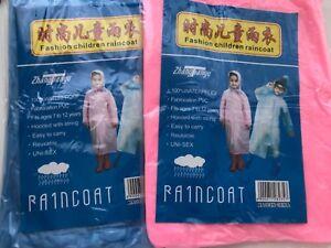 Kid-Children-Excursion-Disposable-Hoodie-Poncho-Raincoat-Rain-Jacket-Coat-Cover