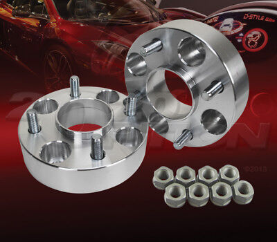 """1.5/"""" 2pc 38mm Thick 5x114.3 Hub Centric Wheel Adapters Spacers M12x1.5 60.1mm"""