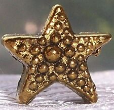Star Gold Tone Christmas Holiday Spacer Bead fits European Style Charm Bracelets