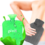 thumbnail 1 - Hot Water Bottle With Cover PVC Ice Bag Warm Relaxing Heat Cold Therapy - Green