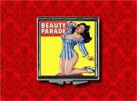 Beauty Parade Pin Up Girl Pulp Vintage Makeup Pocket Compact Mirror