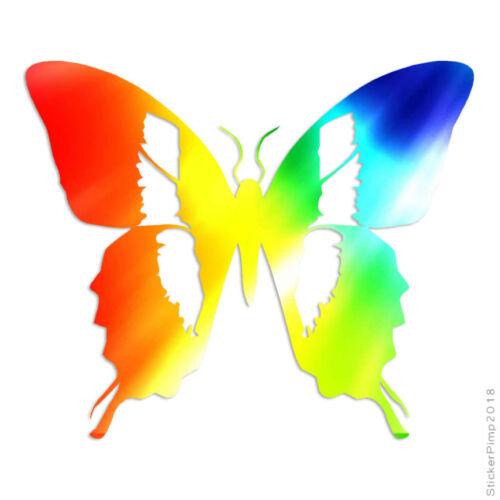 Size #1299 Butterfly Monarch Moth Decal Sticker Choose Pattern