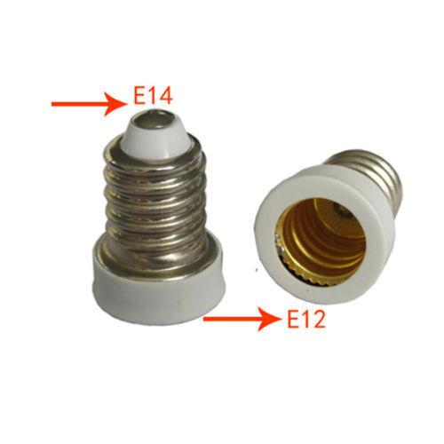 E14 to E12 Adapter Converter Small Edison Screw European Base Reducer Candelabra