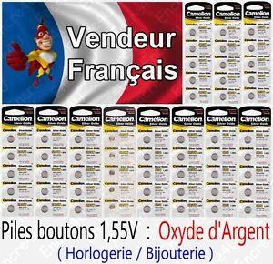 Piles-boutons-1-55V-Oxyde-Argent-SR57W-G7-195-395-SR927-LR41-LR44-LR43-LR54-LR66