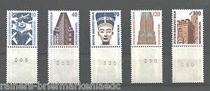 Berlin-Rollenmarken-Sehenswuerdigkeiten-postfrisch-5-Dreierstreifen-799-R-815-R