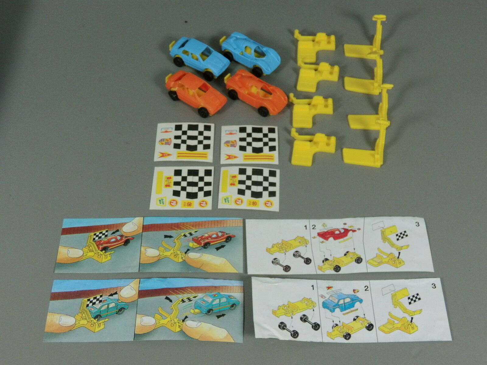 Cars  Race Car Eu 1992 - 2x 2 Sets+4 Akf +4 Bpz