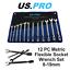 US-PRO-12pc-Flexi-Head-Socket-Open-End-Wrench-Spanner-Set-8-19mm-2081 thumbnail 1