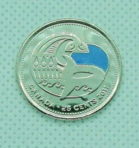 Legendary Nature!* *2011 Canadian 25 cent UNCIRCULATED Coloured ORCA WHALE coin