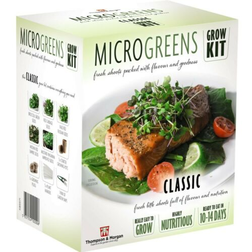 Seed Grow Kit Microgreens Classic Hardy Annual Seeds Easy to Grow Your Own T/&M