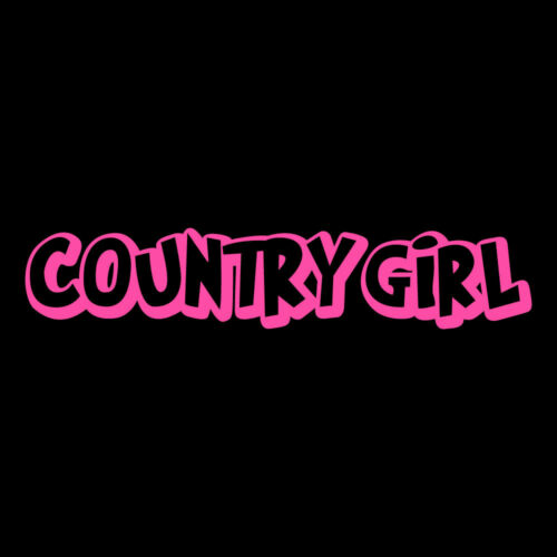 "7.5/"" COUNTRY GIRL Vinyl Decal Sticker Car Window Laptop Redneck Hick Cowboy"