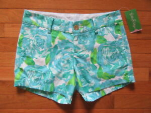 061c6d7170a05 Image is loading LILLY-PULITZER-WOMENS-CALLAHAN-SHORTS-POOL-SIDE-BLUE-
