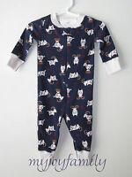 Hanna Andersson Baby Organic Zip Sleeper Folk Goat Navy Newborn Premie