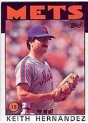 1986 Topps Keith Hernandez 520 Baseball Card
