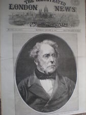 First Lord of the Treasury Viscount Palmerston 1860 old print