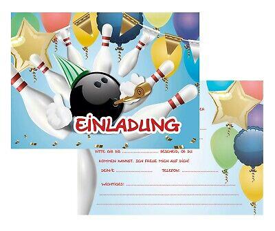 einladungskarten bowling kindergeburtstag * einladungen
