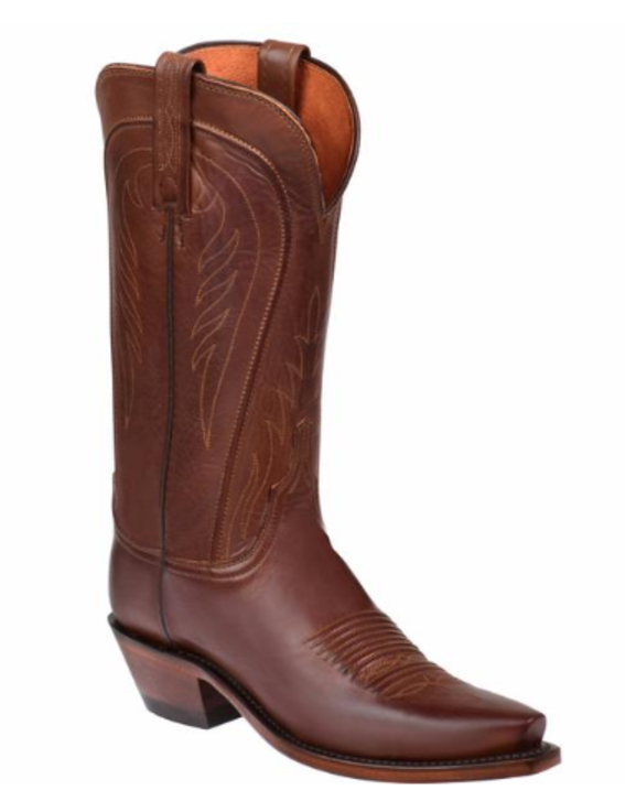 Lucchese Ladies 1883 Amberle Boots Tan Burnished Ranch Hand N4604.54