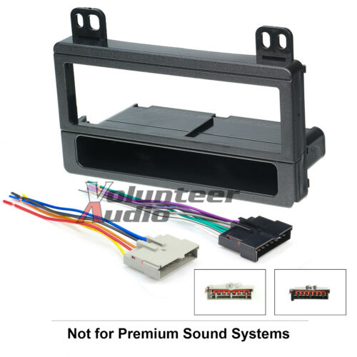 Harness Car Radio Stereo CD Player Dash Install Mounting Trim Bezel Panel Kit