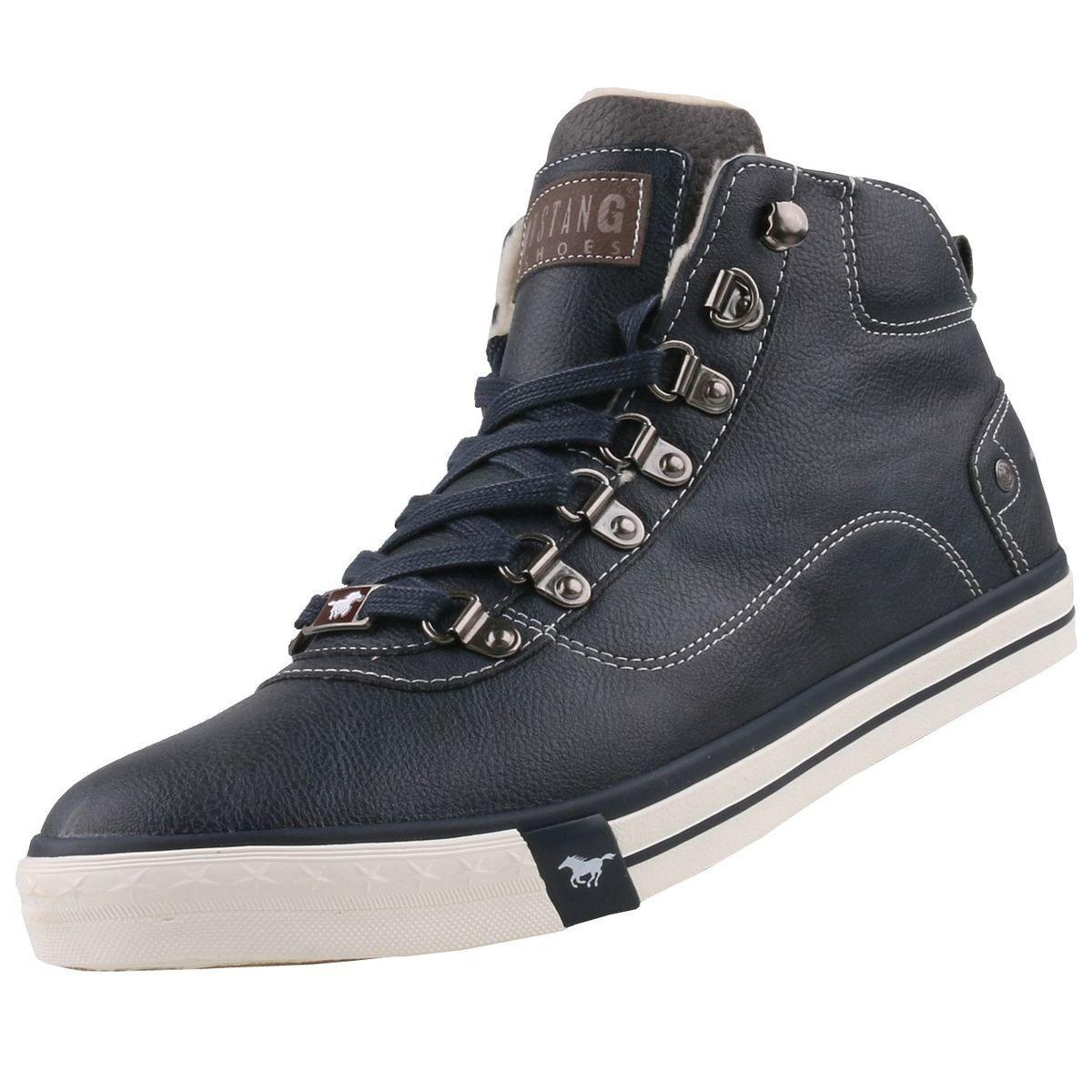 NEU Mustang Herrenschuhe Schuhe High-Top Sneaker gefüttert Stiefel Winter-Boots