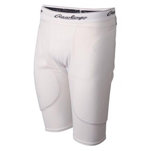 Rawlings Adult Mens Baseball Softball Padded Sliding Shorts MSS White