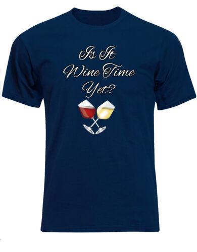 Rojo Vino Blanco las extravagante Diversión Para Hombre Camiseta Camiseta Top ae98 Es vino tiempo todavía