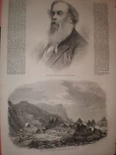 Sir Titus Salt of Saltaire Bradford & wreck of the Avonmore Knap Head 1869 print