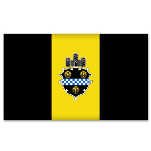 "Pittsburgh City Flag car bumper sticker window decal 5/"" x 3/"""