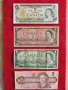 CANADA-BANK-NOTE-SERIES-OF-4-BILLS-TWO-1-DOLLAR-TWO-2-00
