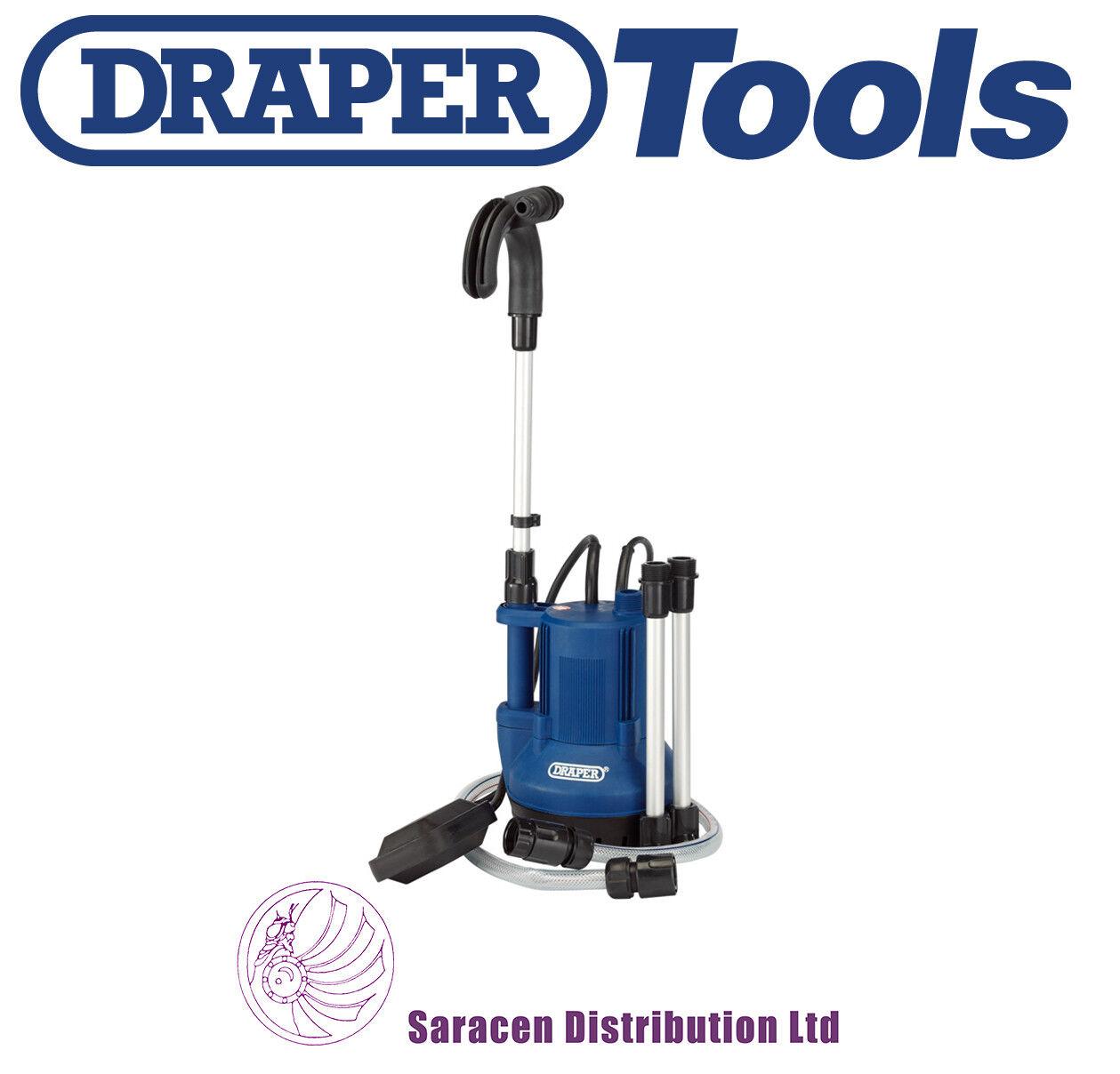 Draper 40L MIN Bomba de tope de agua sumergible con interruptor de flotador (350W) - 36327