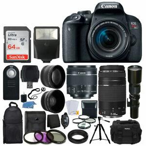 Canon-EOS-Rebel-T7i-DSLR-Camera-18-55-75-300-500mm-Lens-Deluxe-Accessory-Kit