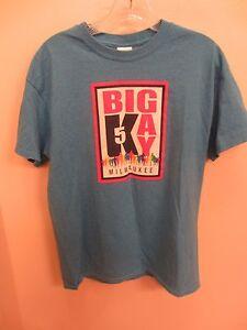 2015 Big Gay 5k Homme T-shirt Medium-milwaukee Wisconsin Run-expédition Rapide!-afficher Le Titre D'origine ExtrêMement Efficace Pour Conserver La Chaleur