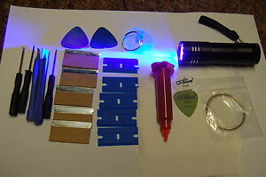 5ML LOCA GLUE & 9 LED UVTORCH AND OPENING TOOLS FITS IPHONE,SAMSUNG,HTC.NOKIA