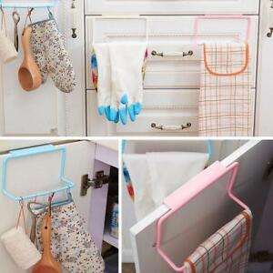 Porte sur torchon bar rack porte hanging organisateur rail salle de bain cuisine ebay for Organisateur salle de bain