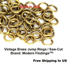 14 Ga Solid Copper 12 MM  I//D Jump Ring  40 P 1 Oz Pkg Saw-Cut  Made In USA