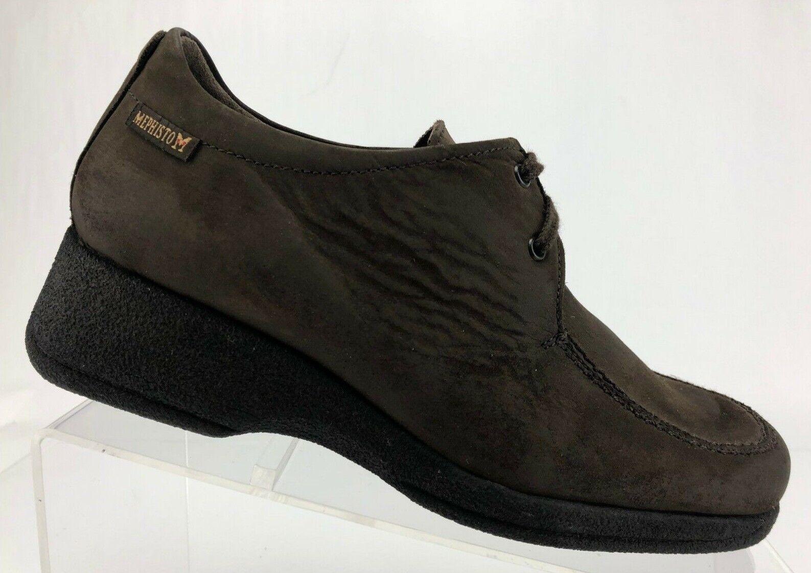 Mephisto Air Relax Oxfords Comfy Apron Toe braun Platform Leather Leather Platform schuhe damen 7 396c9e