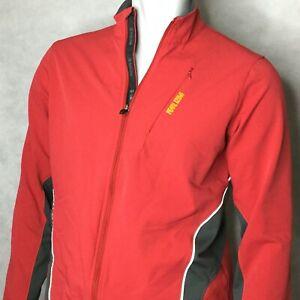 IQ-Pearl-Izumi-Cycling-Jacket-Sz-Medium-Windbreaker-Red-Full-Zip-Pockets