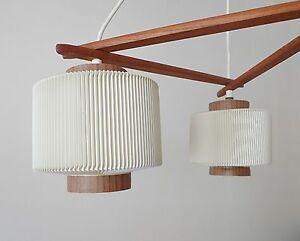 Rispal lustre scandinave abat jour design ann es 50 70 en plastique rhodo d ebay - Lustre en gobelet plastique ...