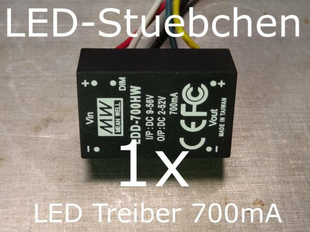 Treiber für HighPower Led Leuchte Lampe dimmbare Konstantstrom-Quelle 350//700mA