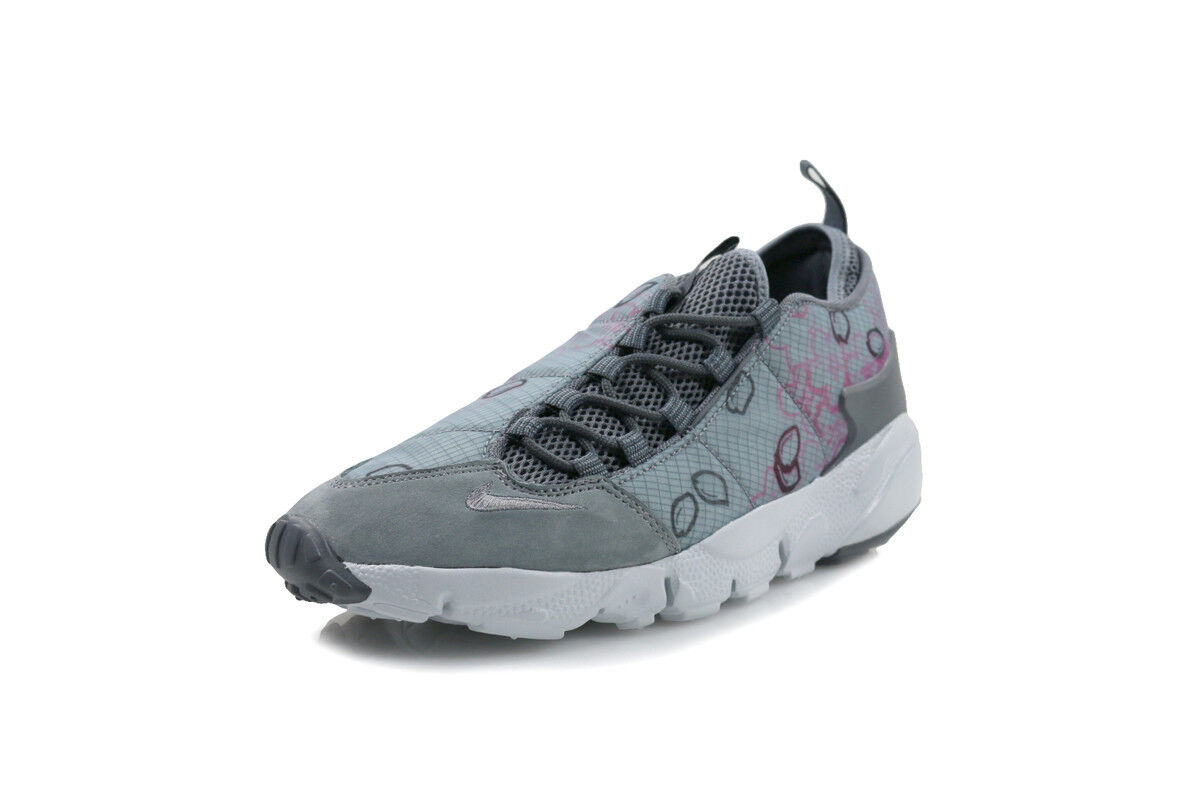 Nike Air Footscape NM Prem QS Womens Shoes Cool Grey/Dark Grey/Pink Blast 002 best-selling model of the brand