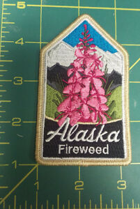 New-Beautiful-Fireweed-mountain-scene-Embroidered-patch-Ships-worldwide