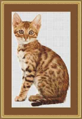 Cross stitch kit Love cat NV-558
