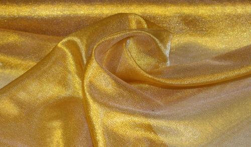 3 Meter Metallic Stoff Schimmernd Dekostoff Organza Futterstoff 150 cm breit