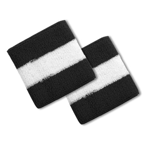 Cotton Terry Cloth Stripe Sports Wrist Band 2 Pack FREE SHIPPING