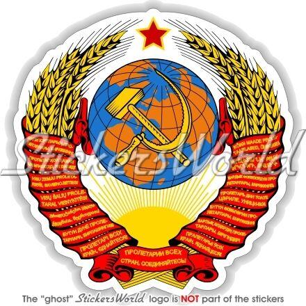 Unión Soviética Rusia Urss Cccp Escudo de Armas Etiqueta de vinilo calcomanía