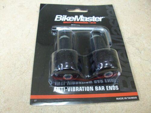 "BIKEMASTER ANODIZED BLACK ANTI VIBE BAR ENDS WEIGHTS MOTORCYCLE 7//8/"" HANDLEBARS"