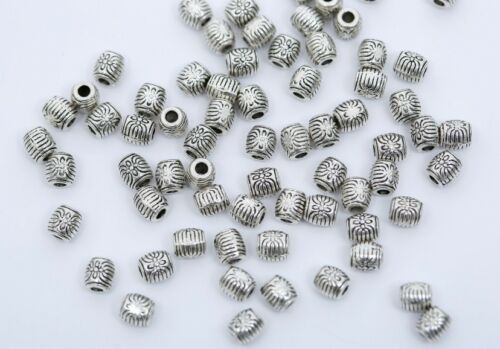 20//50//100x Tibetan Silver Metal Loose Tube Spacer Beads Jewelry Making Charms Dw