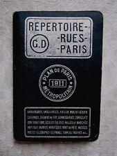 Guide Répertoire des rues de PARIS 1911 Éditeur Georges Dreyfus Paris