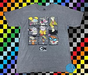 New-Cartoon-Network-Character-Group-Shot-Men-039-s-Vintage-Retro-T-Shirt