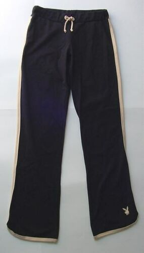 NEW PLAYBOY BUNNY BLACK  AND TAN PANTS YOGA MISSES LARGE